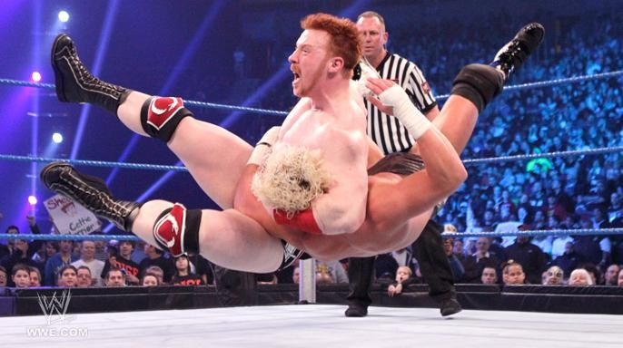Sheamus hits Dolph Ziggler with a dose of \