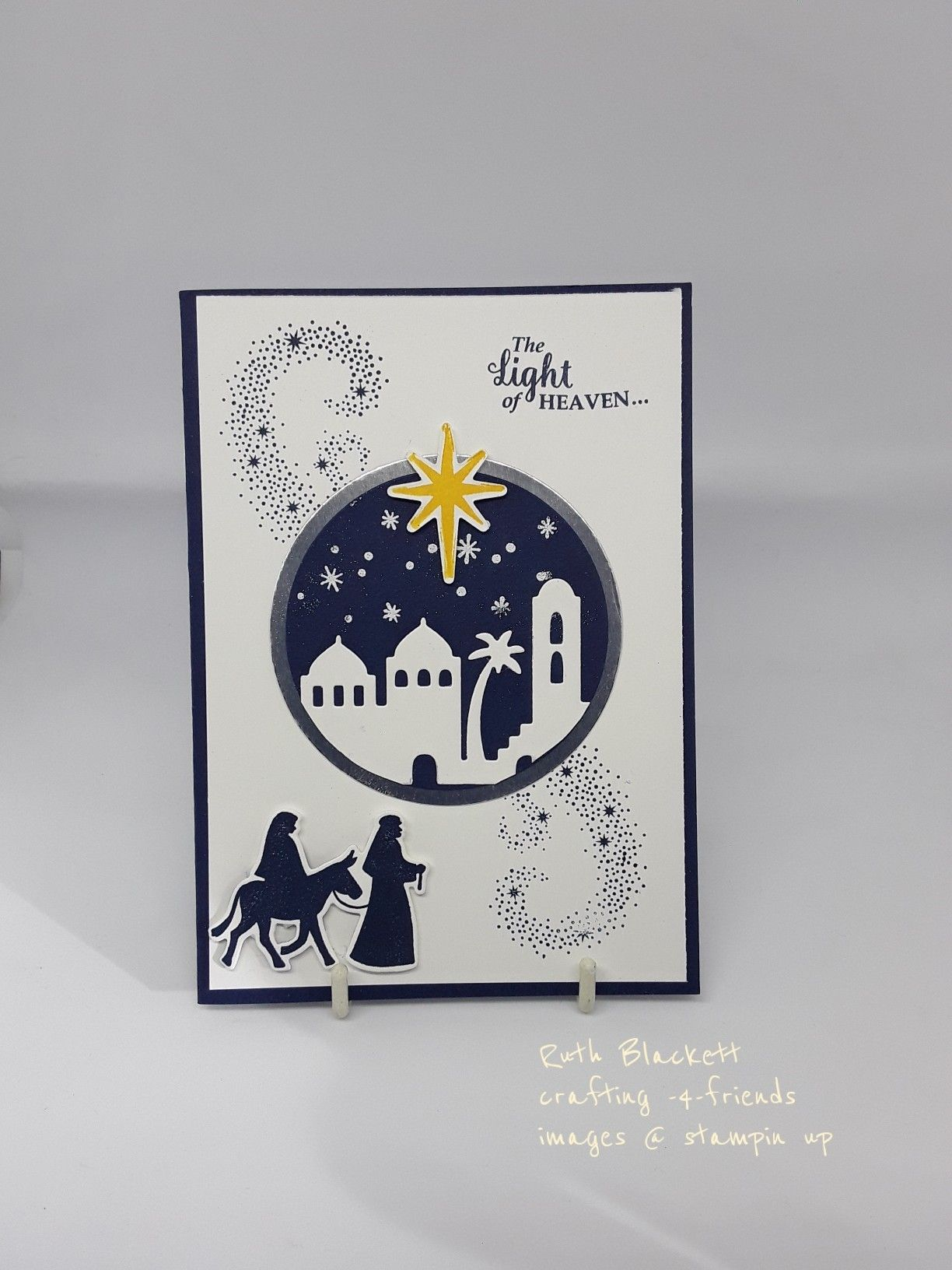 Stampin' Up! Night in Bethlehem and star of light