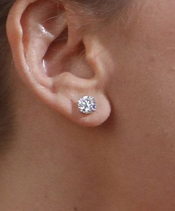 Platinum And Diamond Stud Earrings