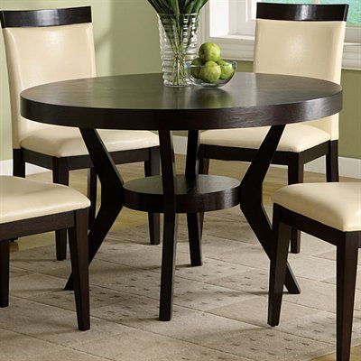 Furniture Of America Cm3423t Downtown Round Dining Table Espresso Home Showroom