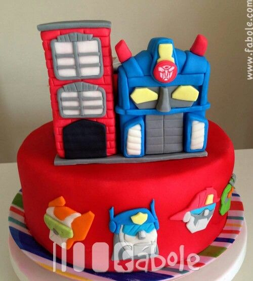 Astonishing Rescue Bots Cake With Images Rescue Bots Birthday Party Funny Birthday Cards Online Alyptdamsfinfo