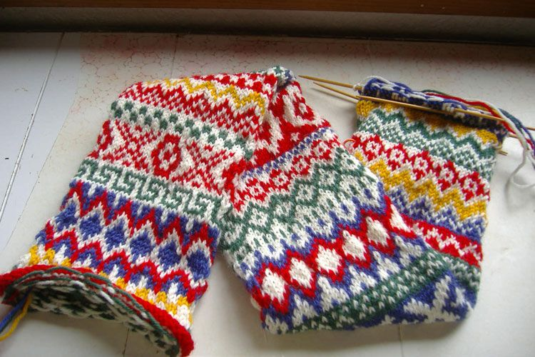 Two Color Fair Isle Patterns Knitting Pattern For Christmas Stocking Free B...