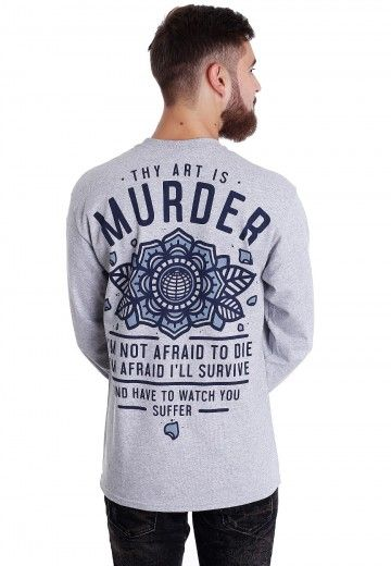 f9e7a3fff80 Thy Art Is Murder - Not Afraid Sportsgrey - Longsleeve - Official Metal  Merchandise Shop - Impericon.com Worldwide