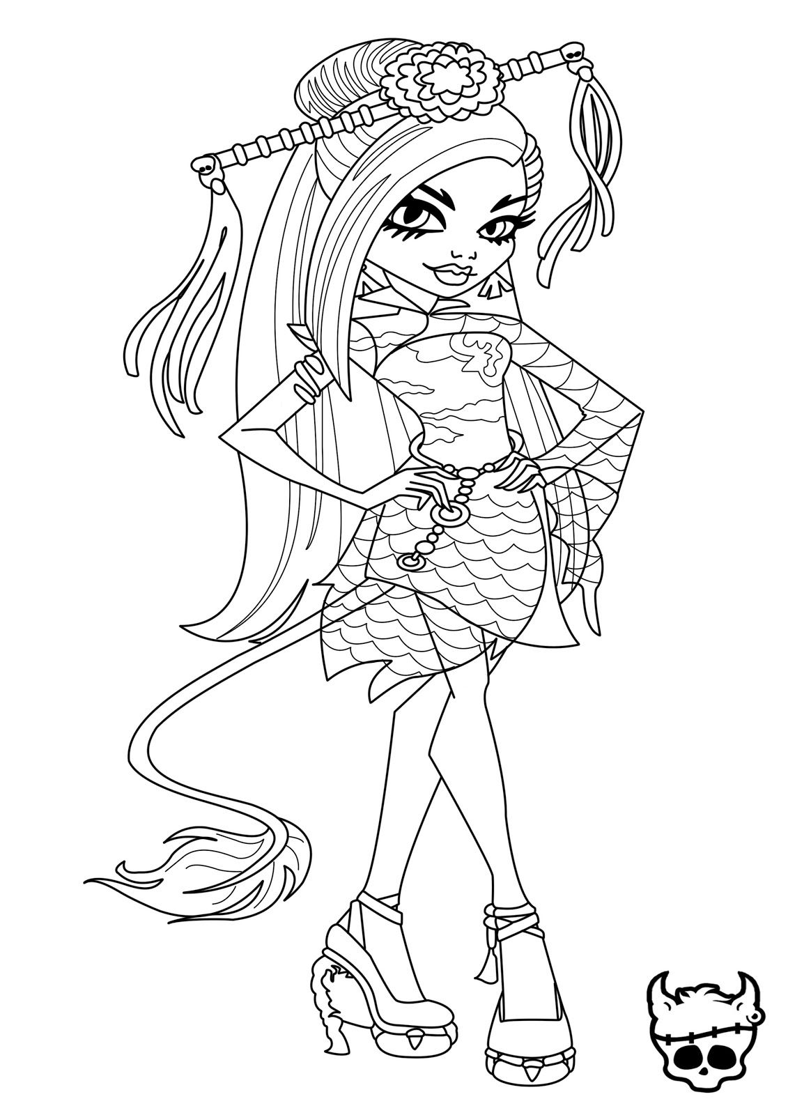 Baby Monster High Coloring Pages | Monster High News | Ausmalbilder ...