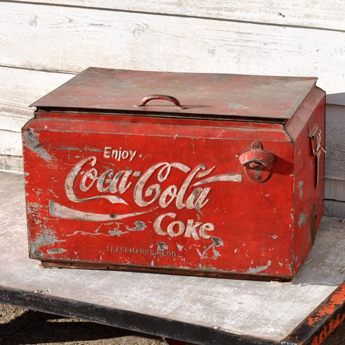 Original Vintage Small Coca Cola Counter top cooler