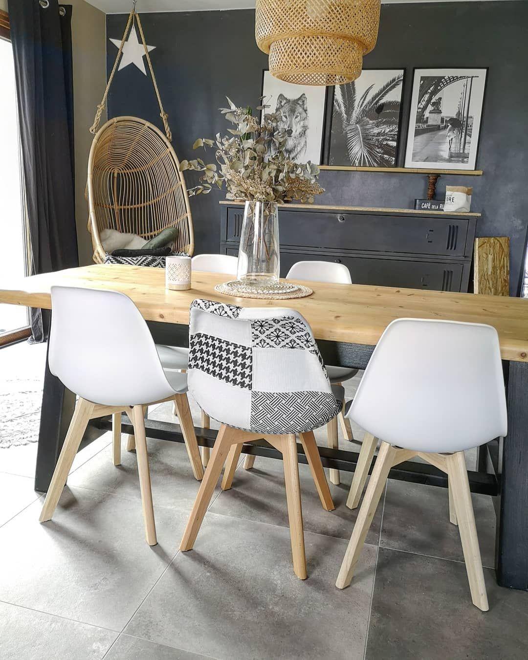 lot de 4 chaises sacha style scandinave