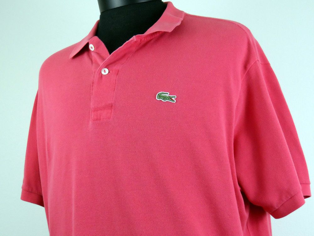 Lacoste Polo Shirt Mens Short Sleeve Sz 7 XL Authentic Red Salmon 100% Cotton #Shopping #Style #Fashion http://r.ebay.com/OVW0Lr via @eBay