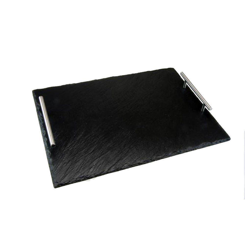 Servierplatte Aus Schiefer Mit Bruchkante 40 X 25 Cm Tablett Mit Griffen Schieferplatte Schiefer Und Schieferherzen