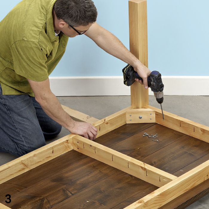 Lowes Gives Directions For Building Base My Door Table
