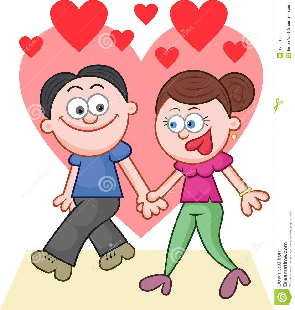 Animated couple holding hands google search