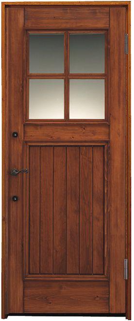 日本製のヨーロピアン風木製玄関ドア 使えば使うほど愛おしい 経年美