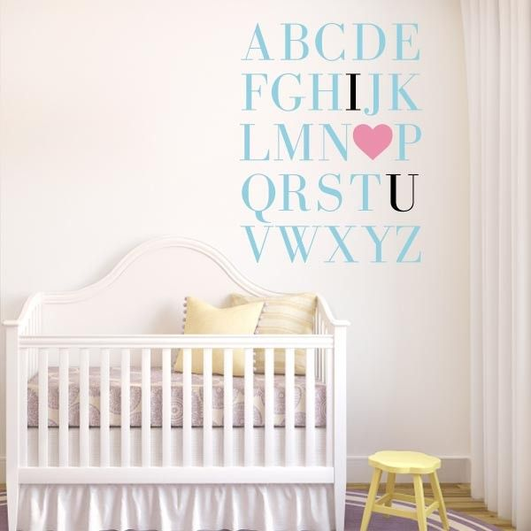 ABC I Love You Nursery Wall Decal | Wall Decal World | Show Your Love For