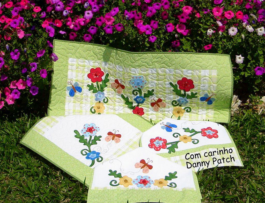 Conjunto Cozinha Flores Do Meu Jardim Conjunto De Cozinha
