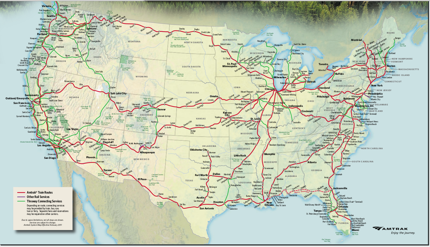 Amtrak Train Routes Map | Galleries Related: Amtrak Train ...