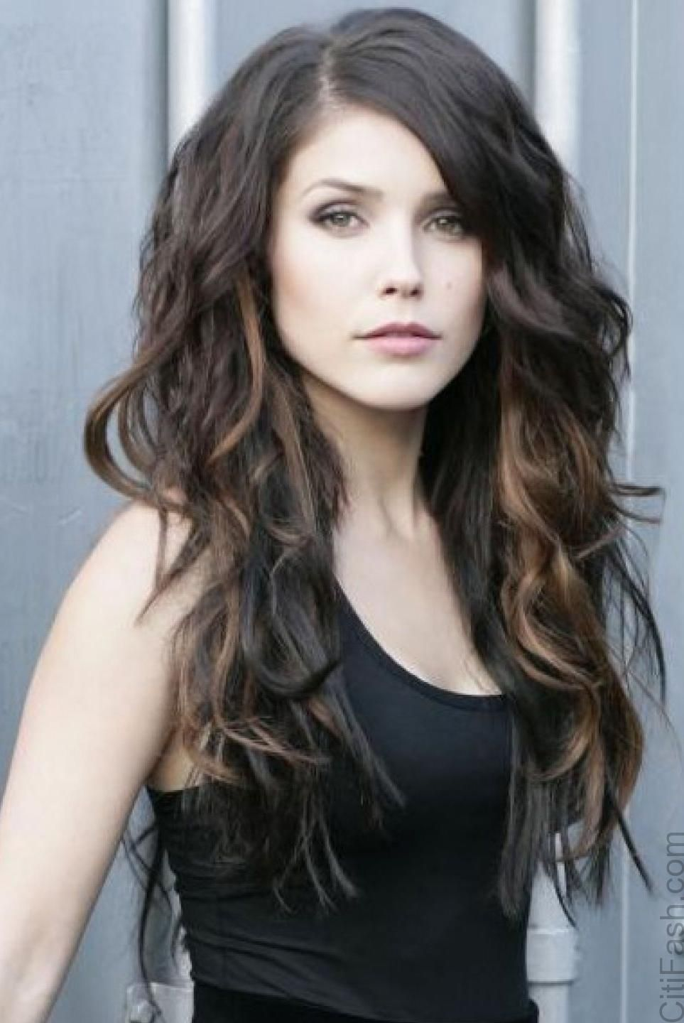 Long Curly Layered Hairstyles Long hair ideas
