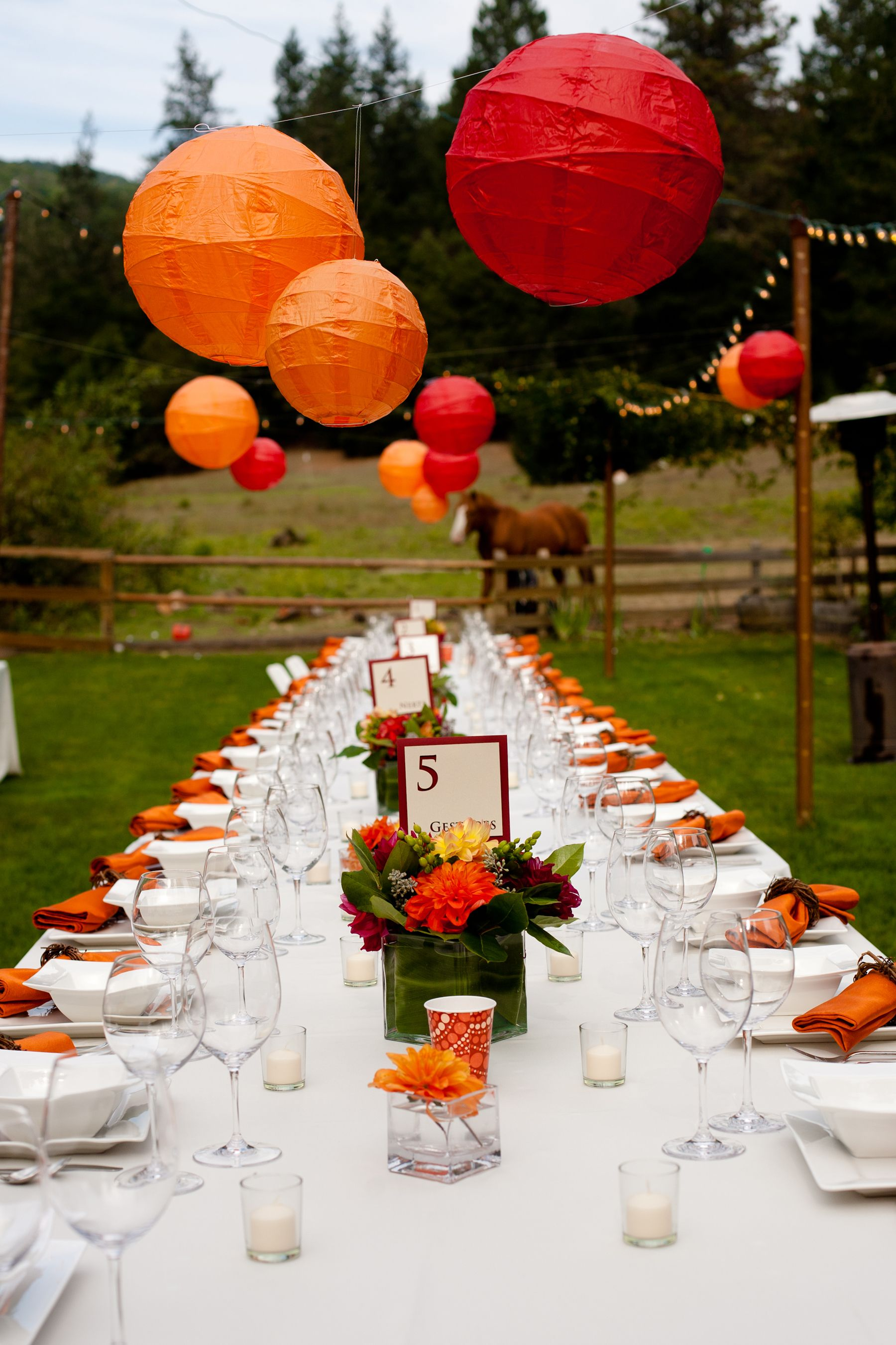 Wedding Table Setting From A Sonoma County Country Wedding Shot