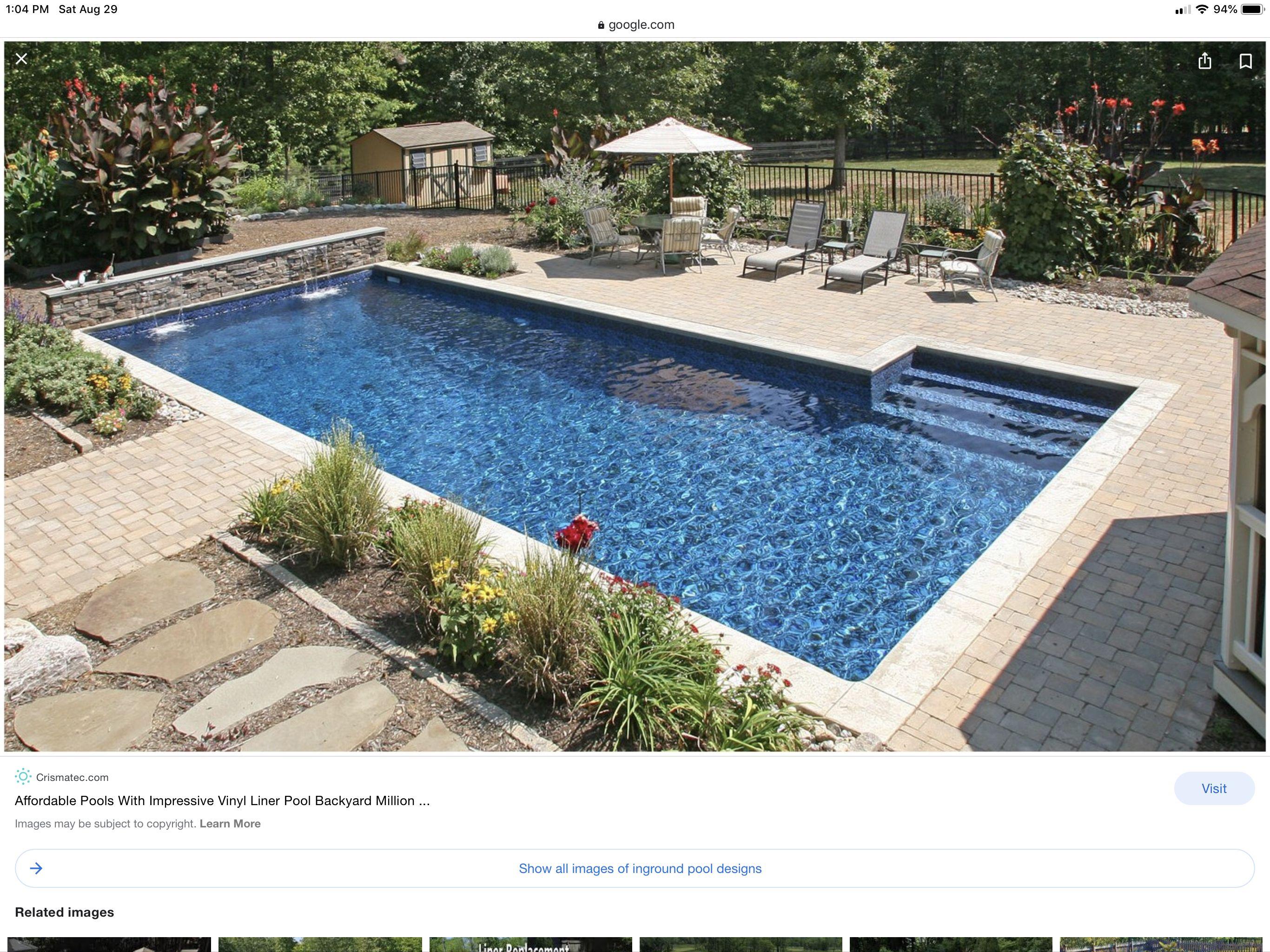 Pin By Jennifer Tonetti On Pool Pools Backyard Inground Backyard Pool Landscaping Backyard Pool Designs