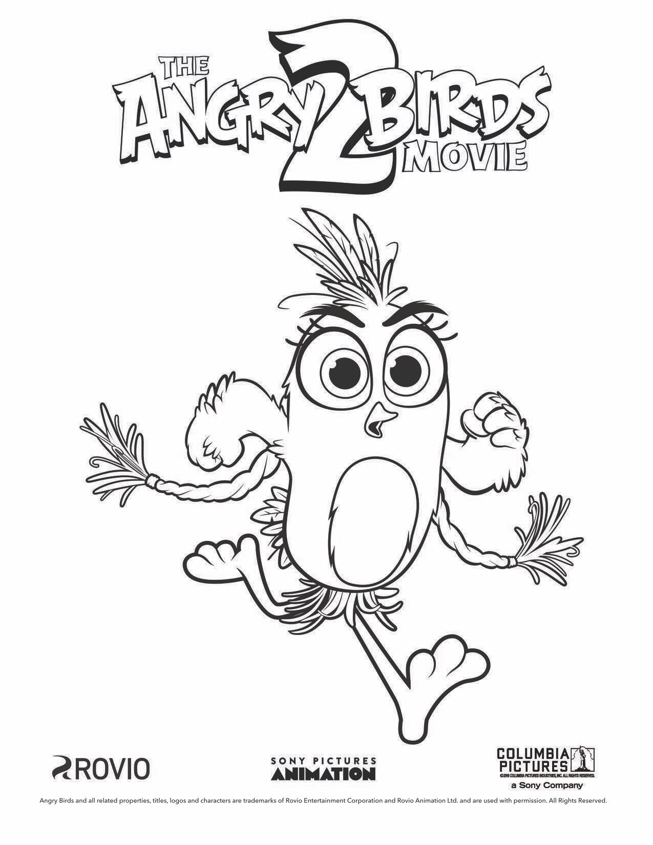 The Angry Birds Movie 2 Silver Coloring Page Bird Coloring Pages Cartoon Coloring Pages Unicorn Coloring Pages