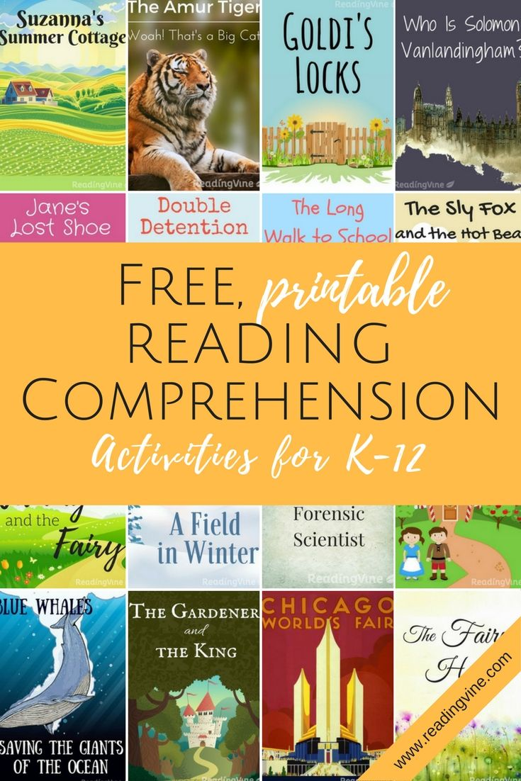 - OVER 300 Free, Printable Reading Comprehension Activities With