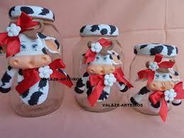 Resultado de imagem para potes decorados com biscuit para cozinha vaquinha