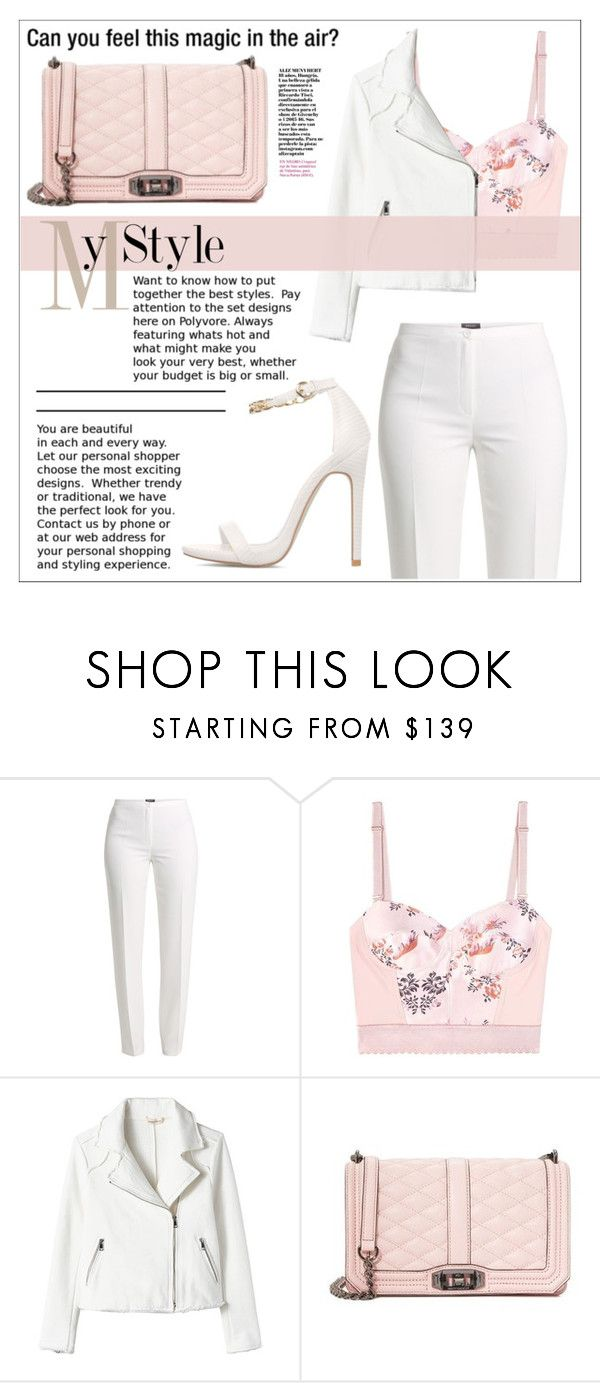 """""""White&Pink. My Style."""" by sati199308 ❤ liked on Polyvore featuring Basler, STELLA McCARTNEY and Rebecca Minkoff"""