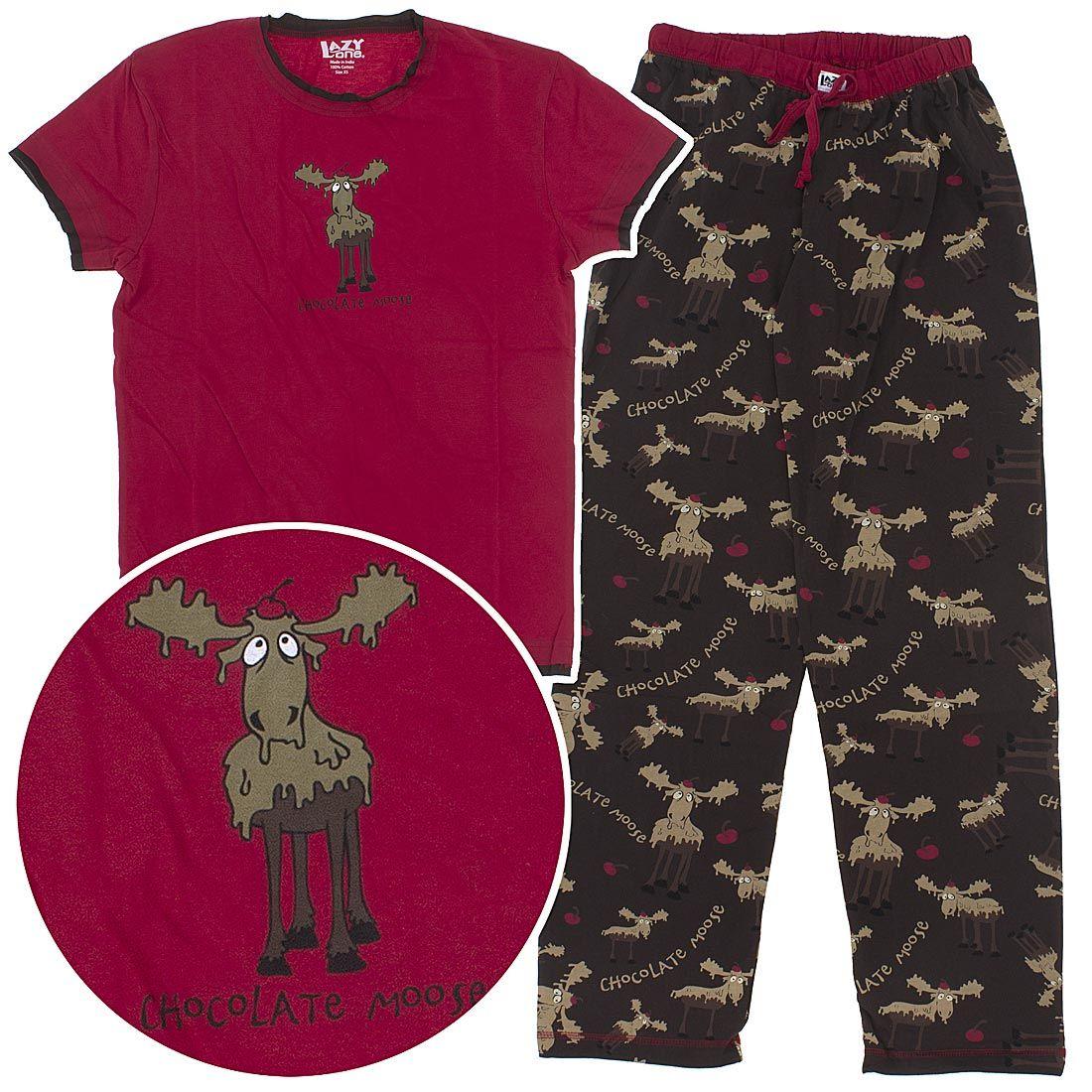 523657140c Lazy One Chocolate Moose Cotton Pajamas for Women - Lazy One Pajamas &  Nightshirts