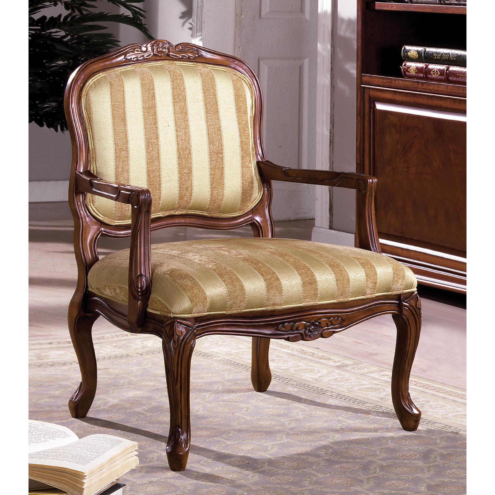 venetian worldwide burnaby - accent chair, beige & tan