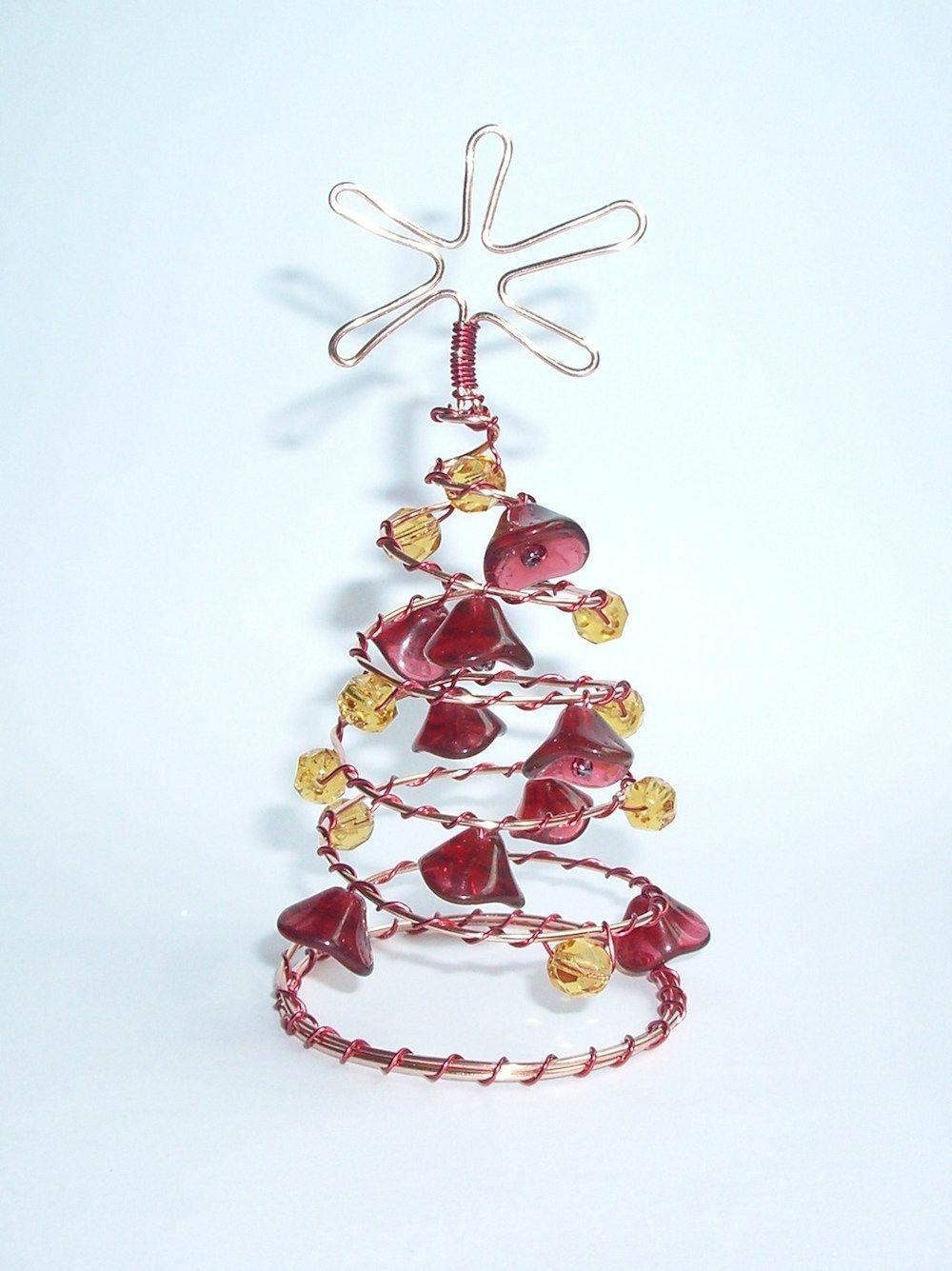 e7c5d3a72 Návod na drátované vánoční ozdoby - stromečky | Návody zdarma / Free ...