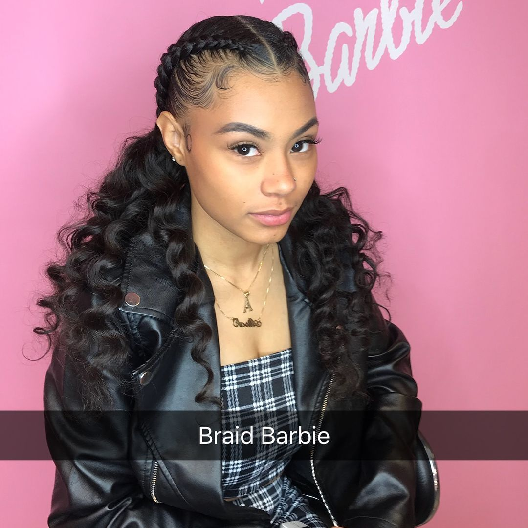 2nd Attempt Braid Barbie Drip On The Edges Kids Short Hair Styles Curly Hair Styles Short Hair Styles Easy