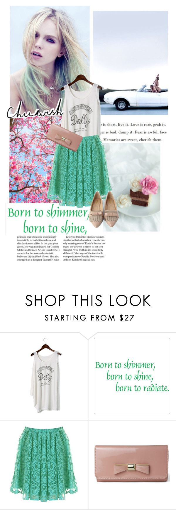 """""""So why don't we go somewhere only we know?"""" by milkandabsinth ❤ liked on Polyvore featuring Chicwish, Børn, pointed-toe flats, lace skirts, pastel colors, spring and chicwish"""