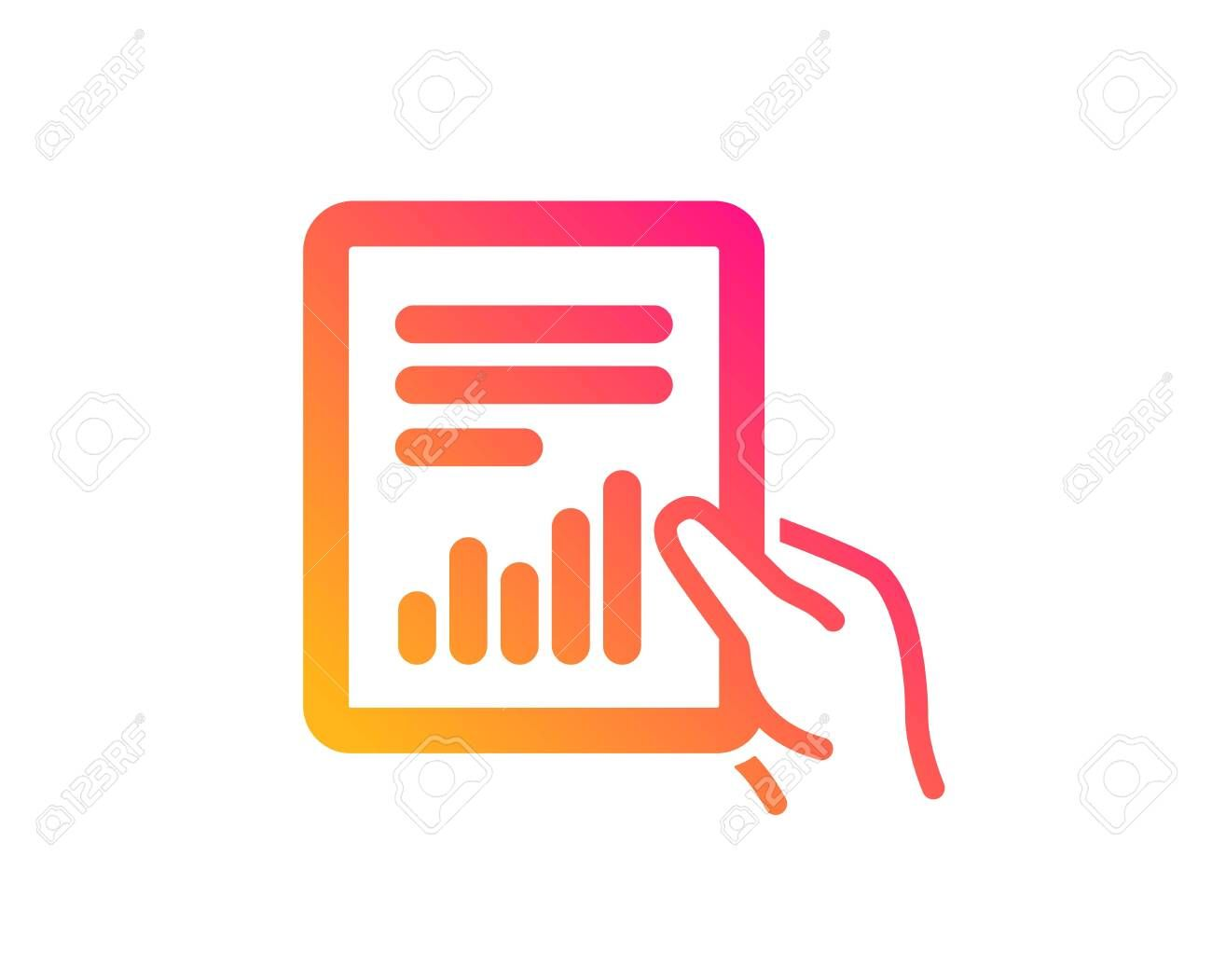 Hold Report Document Icon Analysis Chart Or Sales Growth Sign