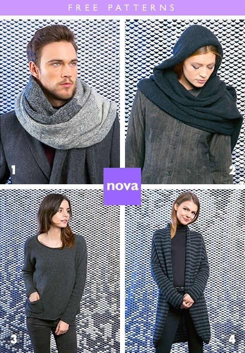 ef7a76886 4 free patterns from Lang Yarns, knit in Lang Nova | Sticks and ...