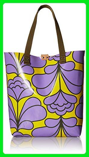 Orla Kiely Damask Flower Printed Tarpaulin Willow Lilac Totes Amazon Partner