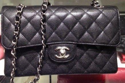 d675866fc13b3e Chanel Black Caviar Classic Flap Small Bag   My Style   Chanel, Bags ...