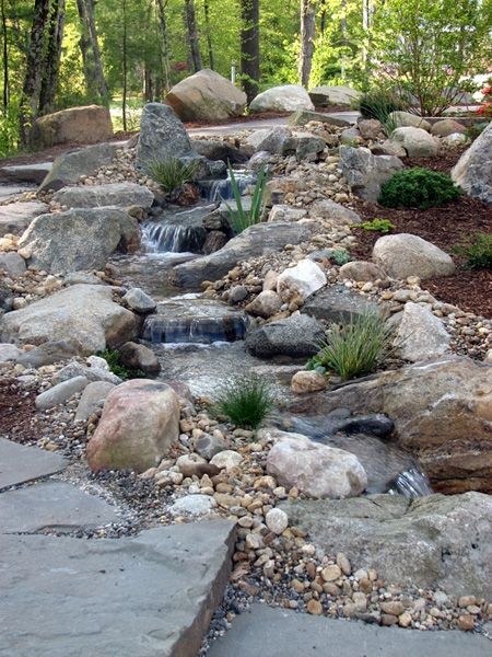 Fireplace With Water Feature | ... estimator select one mulch calculator fireplaces water features #waterfeatures