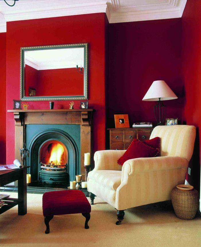 50 farbige w nde welche der zeitgen ssischen wohnung charakter vermitteln wandfarbe rot. Black Bedroom Furniture Sets. Home Design Ideas