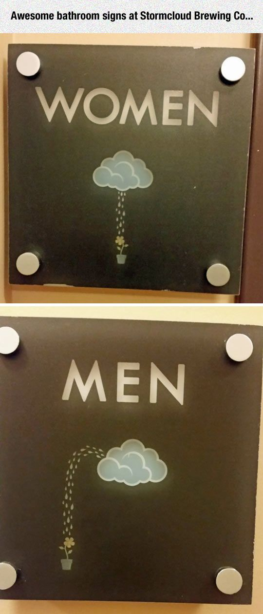 "srsfunny: ""Clever Bathroom Signs "" 