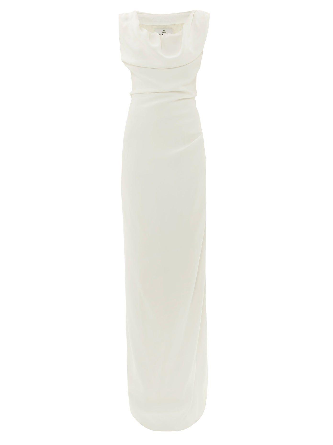 Ginnie Draped Off The Shoulder Satin Dress Vivienne Westwood Vivienne Westwood Wedding Dress Satin Dresses Vivienne Westwood [ 1854 x 1391 Pixel ]