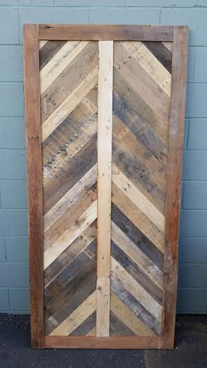 Rustic Chevron Style Barn Door Custom Barn Doors Barn Door Rustic Farmhouse Style