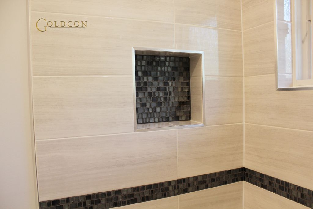 Beautiful Bathroom Renovation Project Featuring 8 X 20 Wall Tiles 12 X 24 Porcelain Beautiful Bathroom Renovations Beautiful Bathrooms Bathroom Renovation