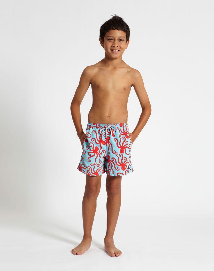 8a4dbcaf29 Blue & Orange Octopus   Baby's got style   Boys, Boys swimwear, Boys ...