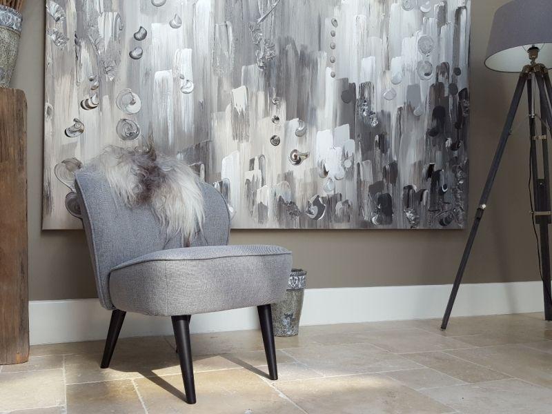 Palissander  groot abstract schilderij in
