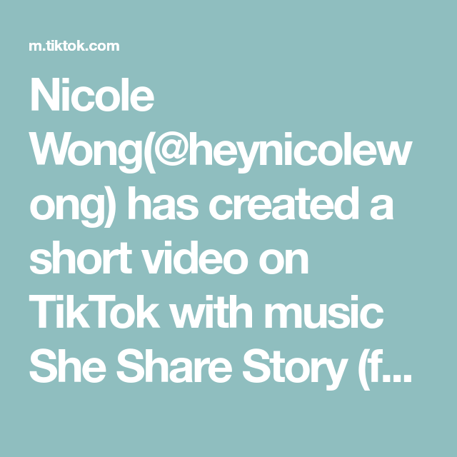 Nicole Wong Heynicolewong Has Created A Short Video On Tiktok With Music She Share Story F Instagram Story Ideas Instagram Tutorial Instagram Marketing Tips