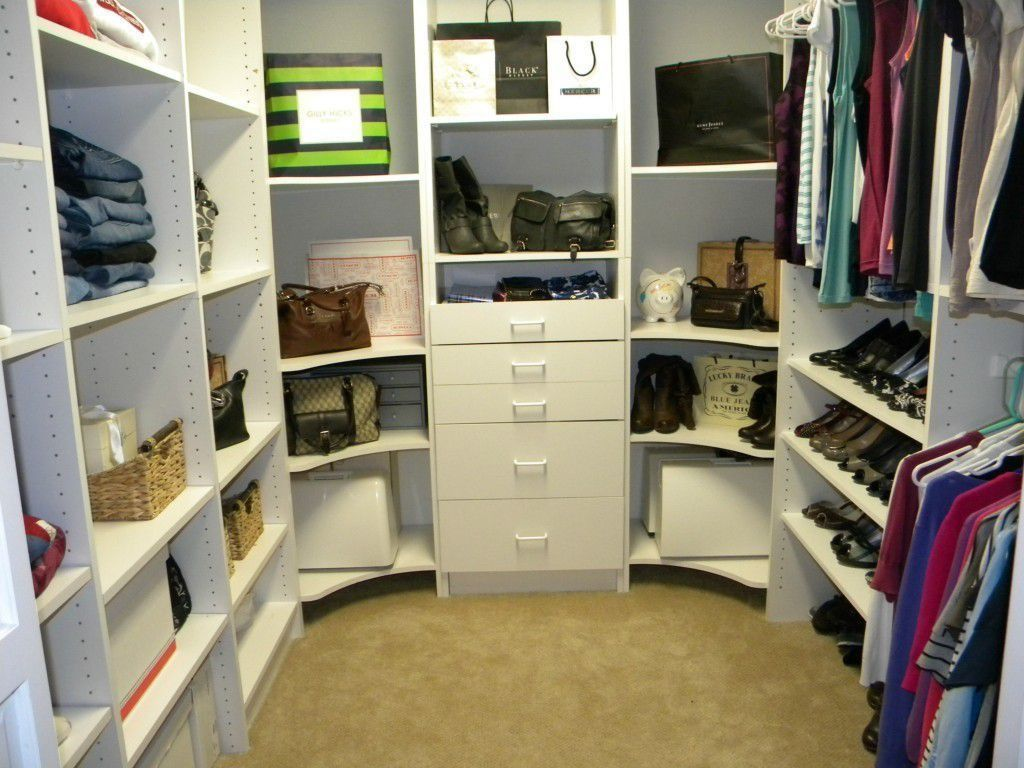 Modern Closet With ClosetMaid Selectives 5 Ft.   10 Ft. White Basic Closet  System