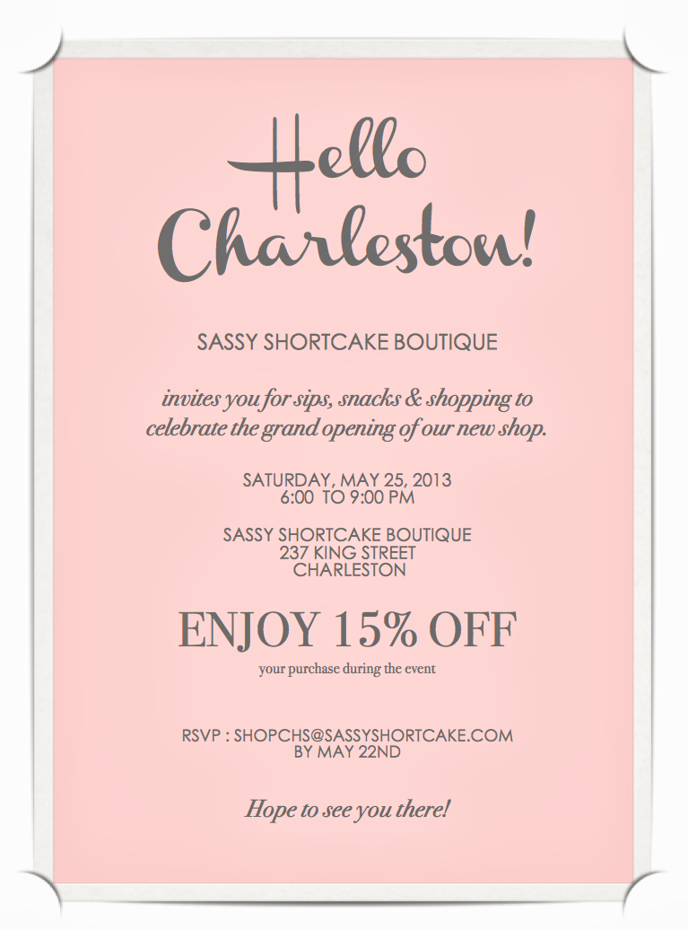 clean and clear grand opening invite idea consider doing a discount