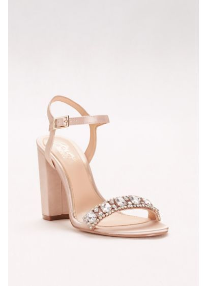 065307ed693 Block Heel Sandal with Embellished Strap JWHENDRICKS