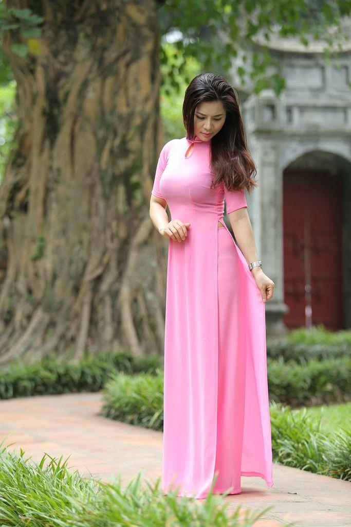 photo Pink-Ao-Dai-Short-Sleeves_zpsiluks8mh.jpg | Hien Thao Vietnam ...