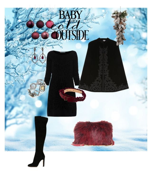 """""""Christmas Party NYC"""" by hanabh2012 on Polyvore featuring Alberta Ferretti, Gianvito Rossi, Marco de Vincenzo, John Hardy, Loree Rodkin, Talitha and Elie Saab"""
