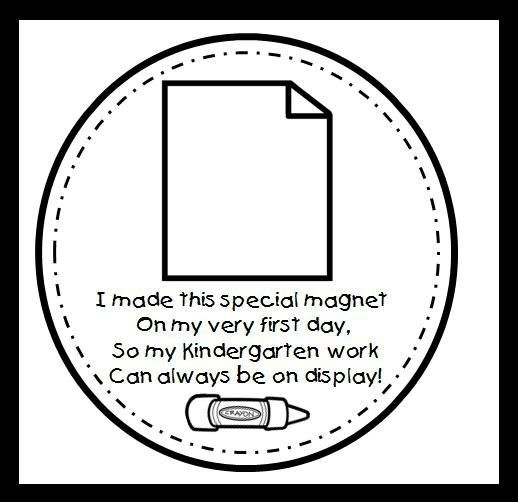 First Day of School magnets for parents  Copy on cardstock