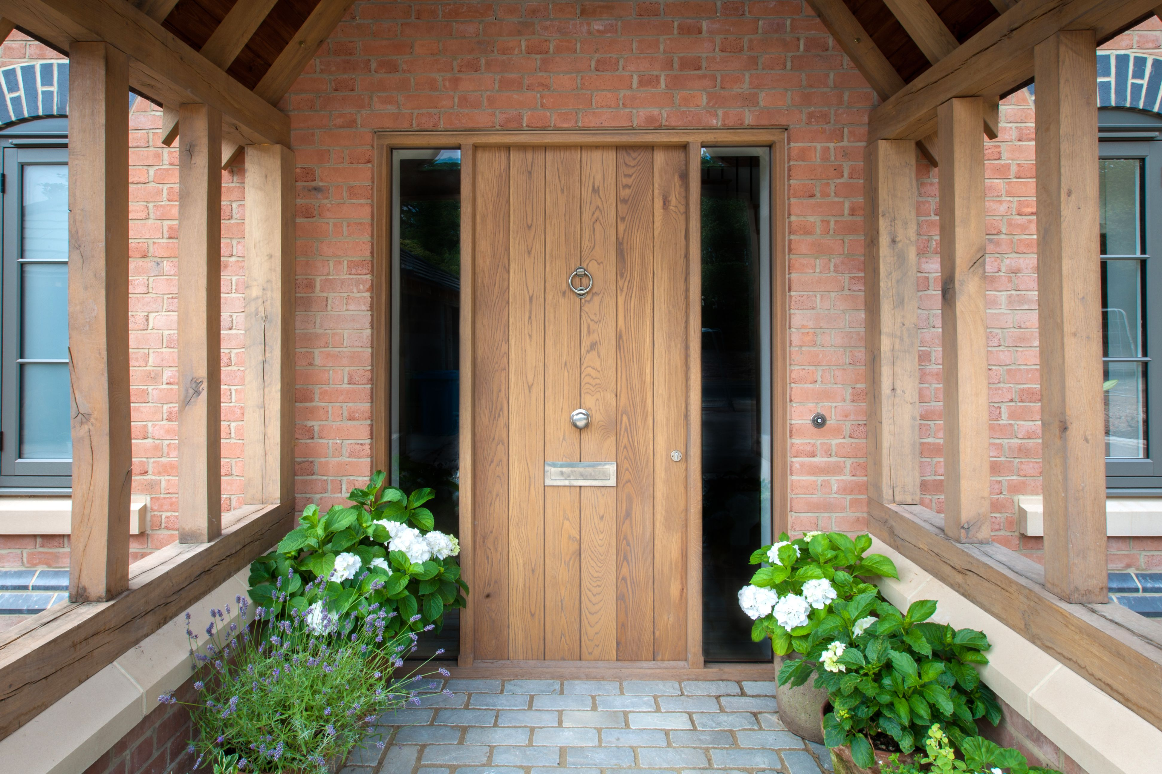 Front Door in Oak Bernard Savage Bespoke kitchens, Front